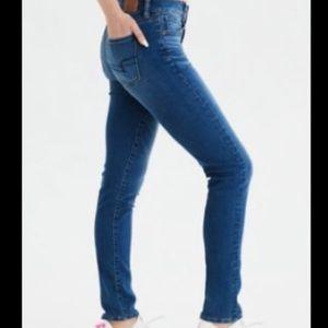 American Eagle Faded Indigo Skinny Jeans